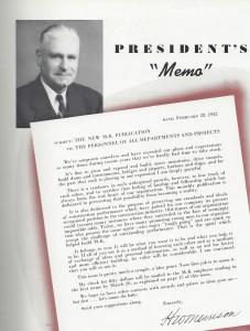 President Memo 1942
